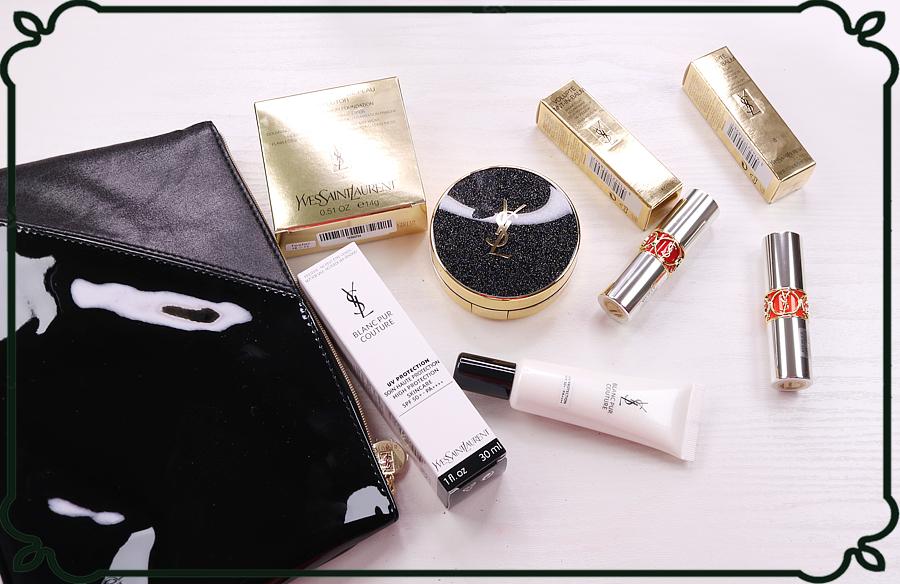 YSL系列、唇釉、氣墊粉餅、遮瑕膏