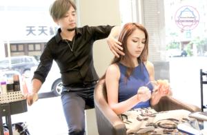 夏森髮型、台中燙髮、層次修剪