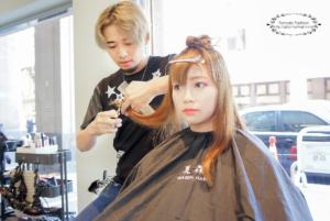 台中燙髮、夏森髮型、層次修剪