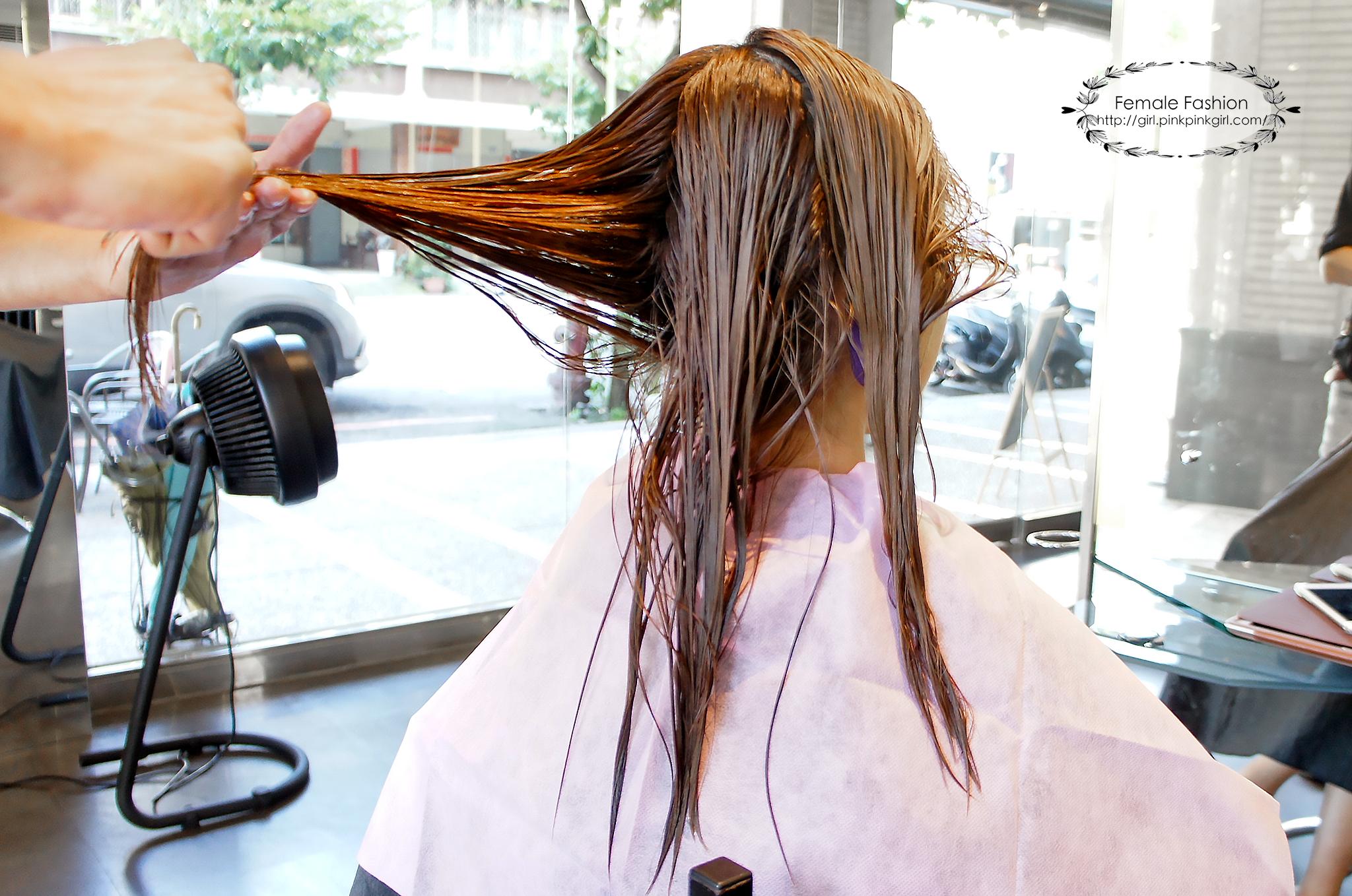 台中燙髮、夏森髮型、染前護髮