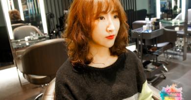 {台中燙髮}中長捲髮推薦,有了S捲度造型的韓系女孩風,加上空氣劉海的加持,這個暑假,台中『夏森髮型』給了我從未有過的髮型立體感。