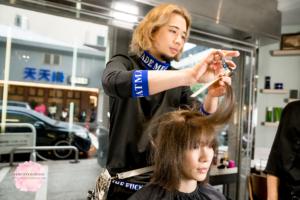 夏森髮型、台中美髮、電棒燙捲、台中染髮、伯爵奶咖啡色系