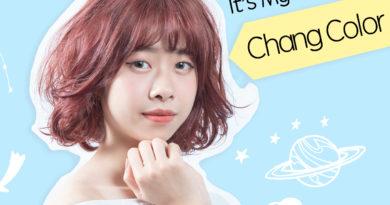 {台中染髮}到夏森髮型改頭換面囉~『霧感莓果色』超顯白,鬆軟捲髮搭上新髮色,更顯我的活力繽紛!